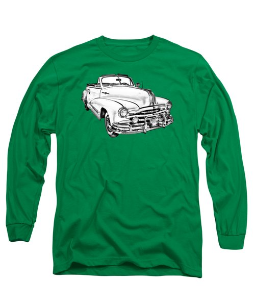 1948 Pontiac Silver Streak Convertible Illustration Long Sleeve T-Shirt