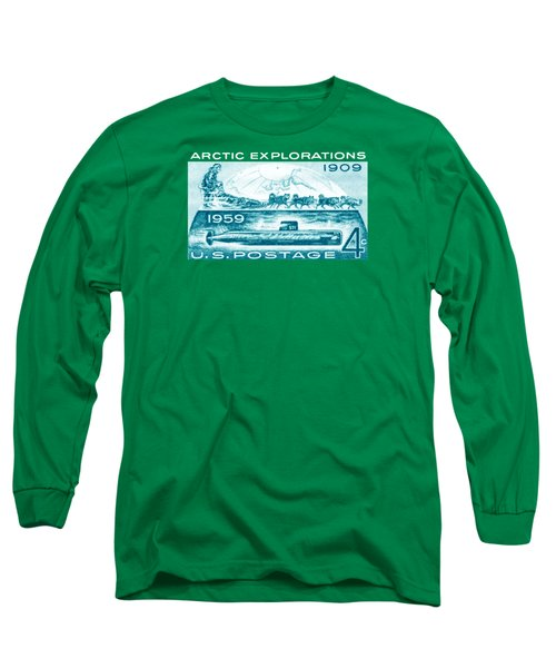 Long Sleeve T-Shirt featuring the painting 1959 Arctic Explorations by Historic Image