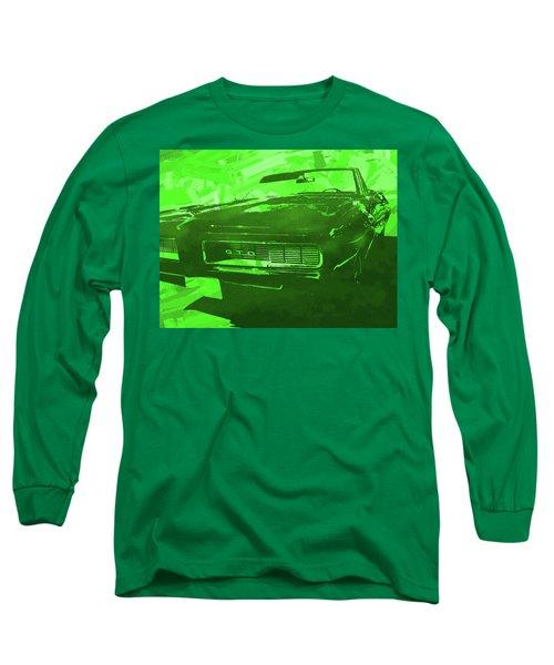 1969 Pontiac Gto Convertible Pop Green Long Sleeve T-Shirt