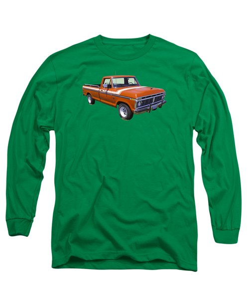 1975 Ford F100 Explorer Pickup Truck Long Sleeve T-Shirt by Keith Webber Jr