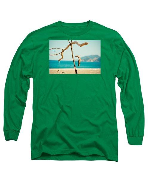 Nature Sculpture At Coast Seascape Artmif.lv Long Sleeve T-Shirt