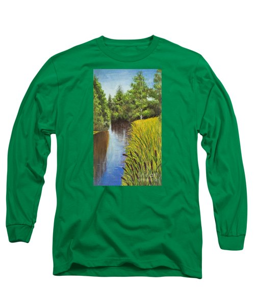 Summer Landscape, Painting Long Sleeve T-Shirt