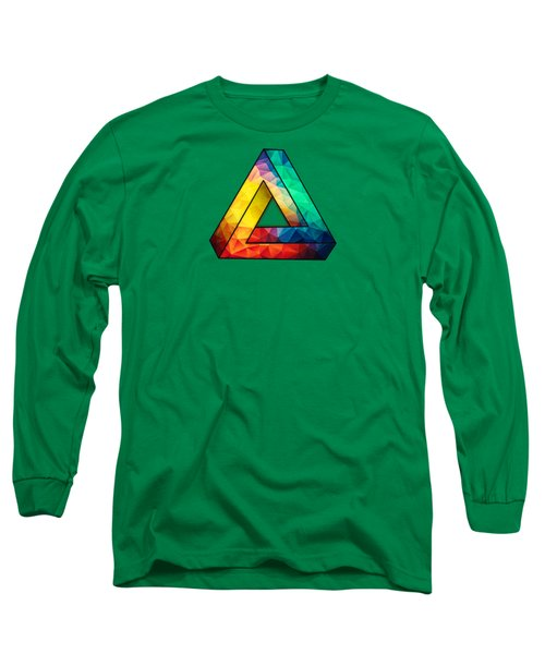 Abstract Color Wave Flash Long Sleeve T-Shirt