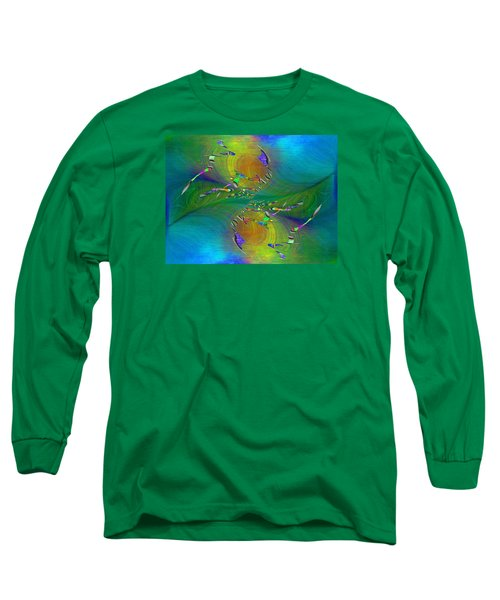 Long Sleeve T-Shirt featuring the digital art Abstract Cubed 359 by Tim Allen