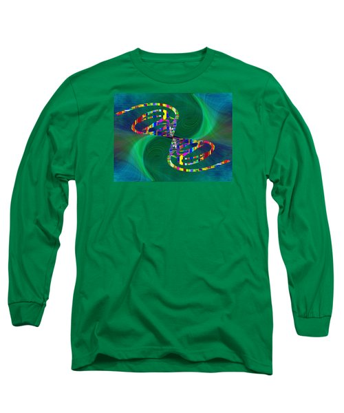 Long Sleeve T-Shirt featuring the digital art Abstract Cubed 374 by Tim Allen