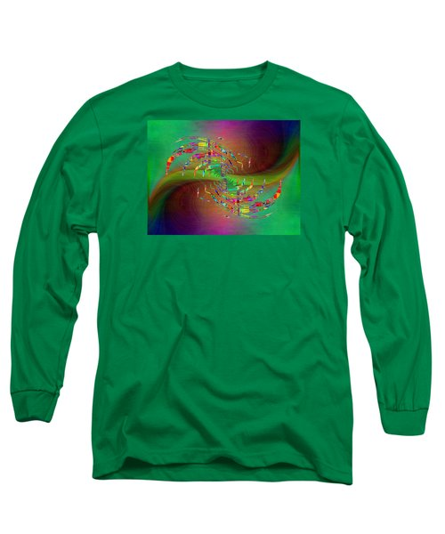 Long Sleeve T-Shirt featuring the digital art Abstract Cubed 379 by Tim Allen