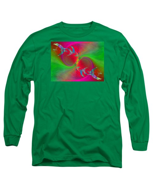 Long Sleeve T-Shirt featuring the digital art Abstract Cubed 383 by Tim Allen