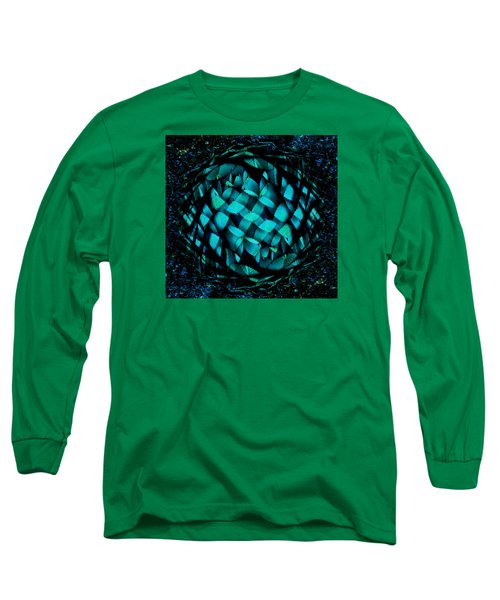 Agave Blues Abstract Long Sleeve T-Shirt by Stephanie Grant