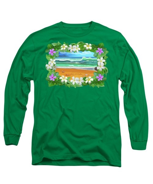 Aloha Hawaii Long Sleeve T-Shirt by Glenn Holbrook