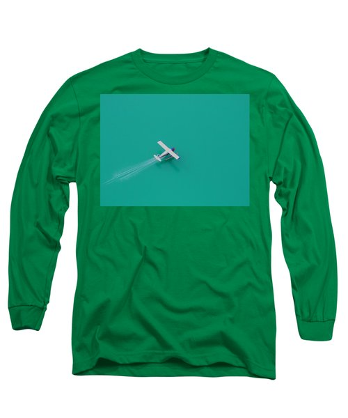Long Sleeve T-Shirt featuring the photograph Alpine Lake Landing by Mark Alan Perry