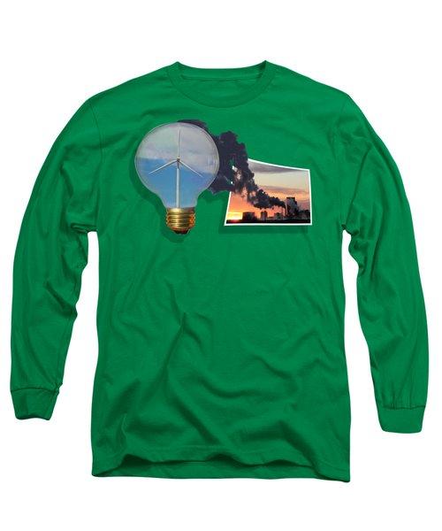 Alternative Energy Long Sleeve T-Shirt by Shane Bechler