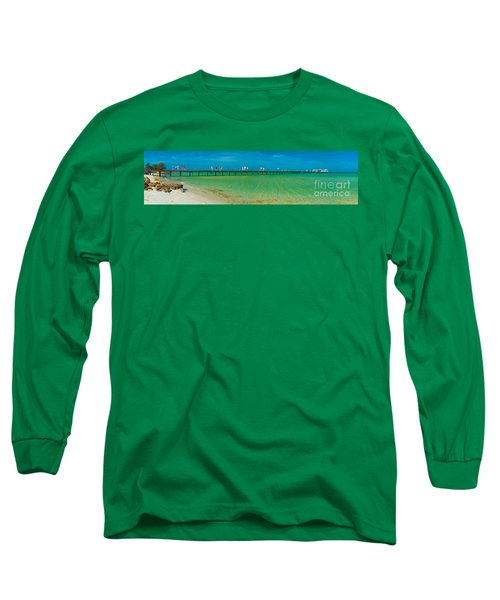 Anna Maria Island Historic City Pier Panorama Long Sleeve T-Shirt