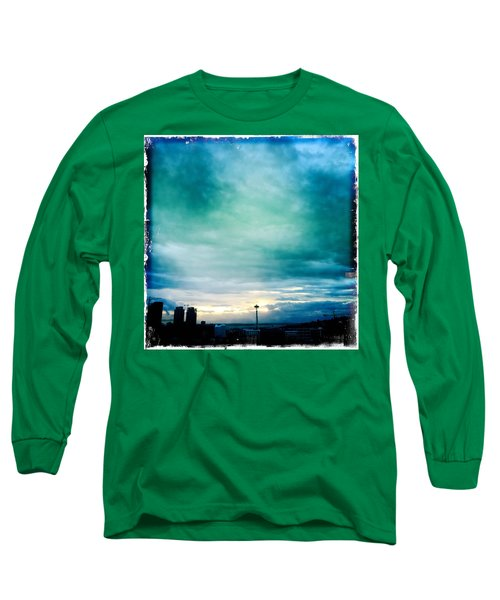 Aqua Needle Long Sleeve T-Shirt
