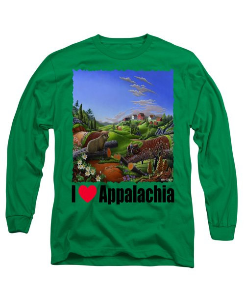 I Love Appalachia - Spring Groundhog Long Sleeve T-Shirt by Walt Curlee