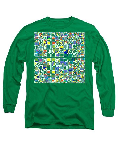Background Choice Squares Long Sleeve T-Shirt