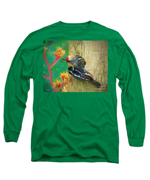 Barbet Nestlings Long Sleeve T-Shirt by Judy Kay