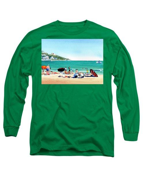 Beach At Roses, Spain Long Sleeve T-Shirt