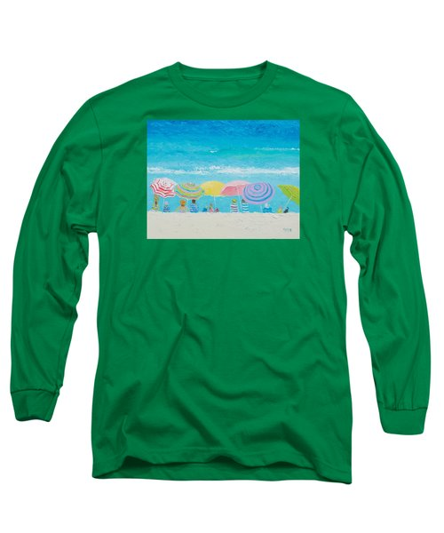 Beach Painting - Color Of Summer Long Sleeve T-Shirt by Jan Matson