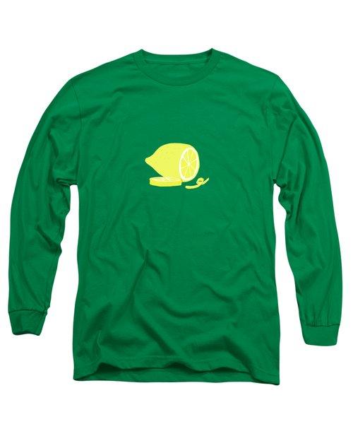 Big Lemon Flavor Long Sleeve T-Shirt by Little Bunny Sunshine