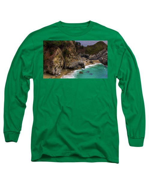 Big Sur Waterfall Long Sleeve T-Shirt