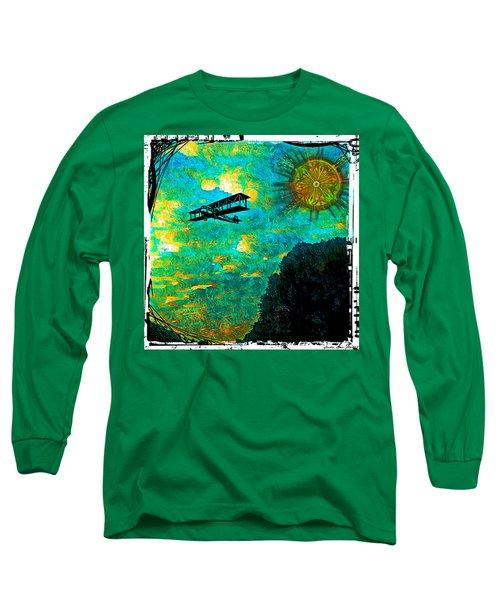 Biplane Long Sleeve T-Shirt by Iowan Stone-Flowers