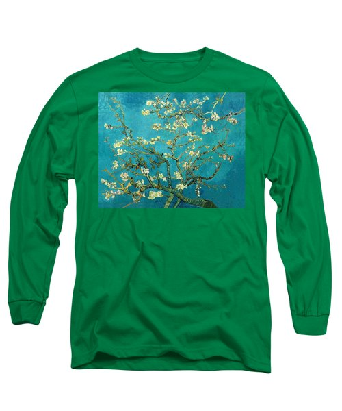 Long Sleeve T-Shirt featuring the painting Blossoming Almond Tree by Van Gogh