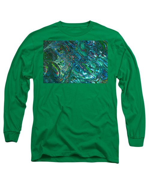 Blue Abalone Abstract Long Sleeve T-Shirt