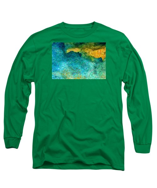 Blue Abstract #5 Long Sleeve T-Shirt