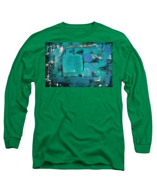 Blue Abstract Long Sleeve T-Shirt