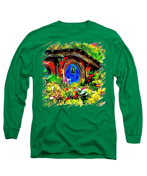 Blue Door Hobbit House-t Shirt Long Sleeve T-Shirt by Kathy Kelly