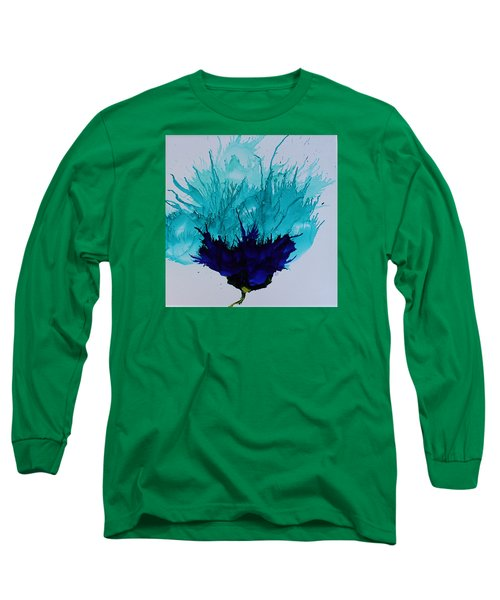 Blue Thistle Long Sleeve T-Shirt by Suzanne Canner