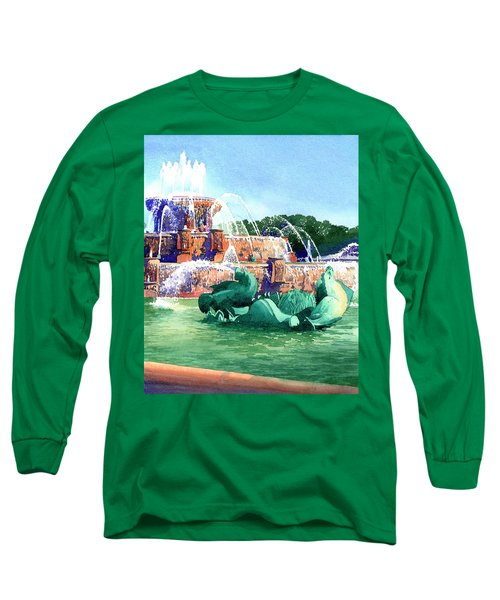 Buckingham Fountain Long Sleeve T-Shirt