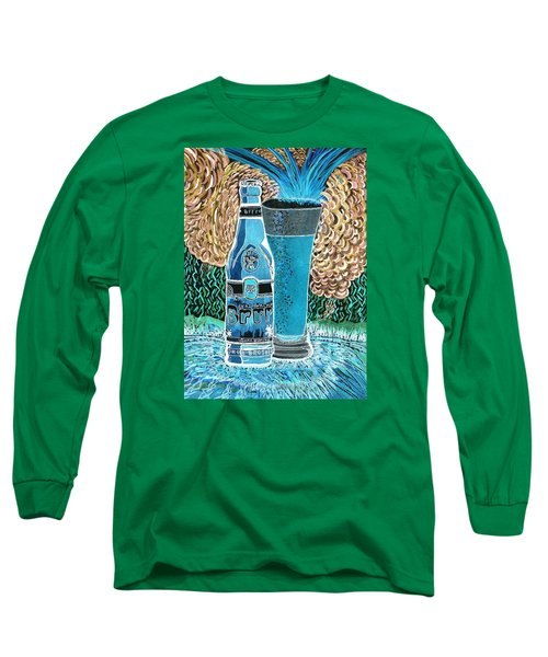 Long Sleeve T-Shirt featuring the painting Burr Hyfe Gone Real Cold by Connie Valasco