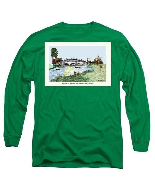 Busy Richmond Bridge Long Sleeve T-Shirt