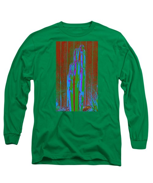 Long Sleeve T-Shirt featuring the photograph Cactus Stand by M Diane Bonaparte