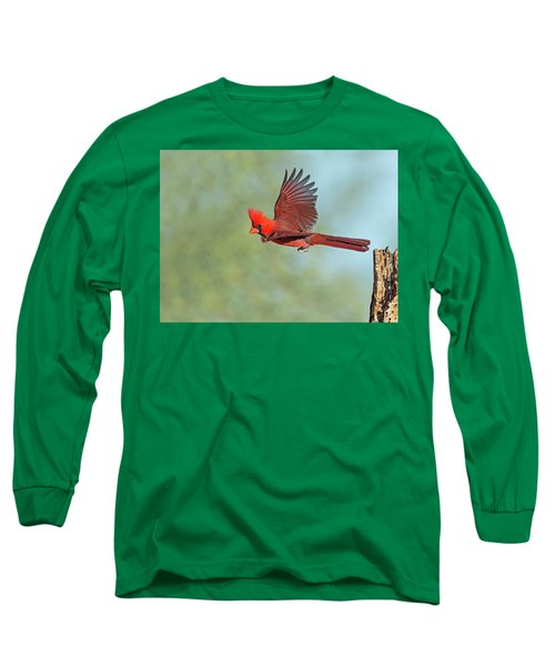 Cardinal On A Mission Long Sleeve T-Shirt