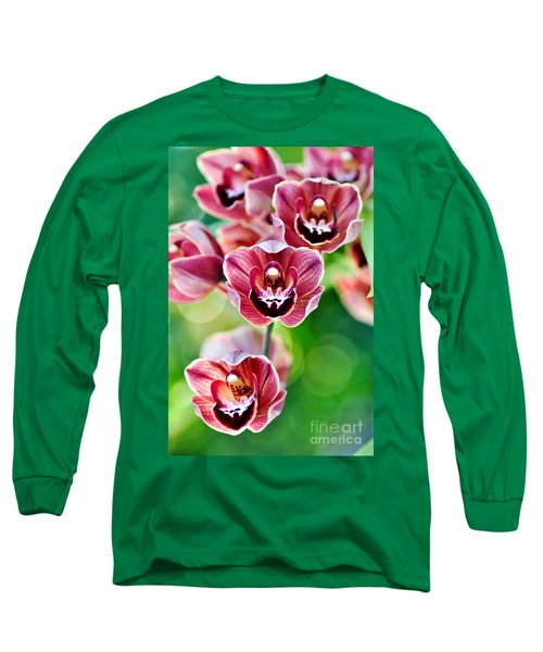 Cascading Miniature Orchids Long Sleeve T-Shirt