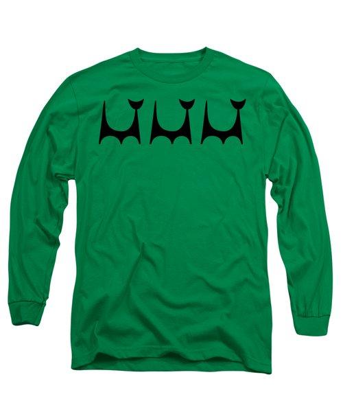Cat 2 Trio Transparent Long Sleeve T-Shirt