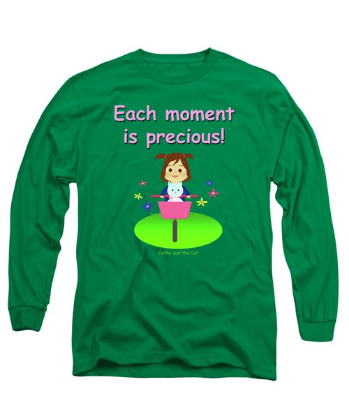 Cathy And The Cat Enjoy Each Moment Long Sleeve T-Shirt