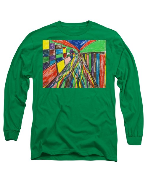 Long Sleeve T-Shirt featuring the painting Central Hill - London Sw19 by Mudiama Kammoh