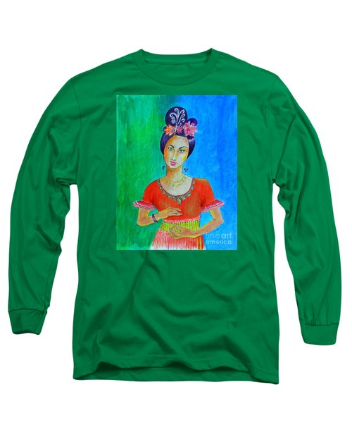 Chinese Dancer -- The Original -- Portrait Of Asian Woman Long Sleeve T-Shirt