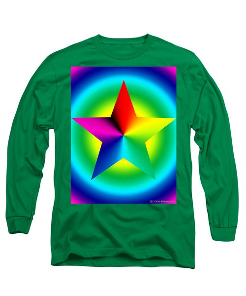Chromatic Star With Ring Gradient Long Sleeve T-Shirt