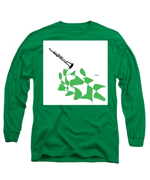Clarinet In Green Long Sleeve T-Shirt
