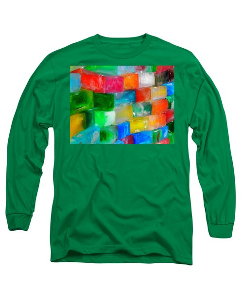Colored Ice Bricks Long Sleeve T-Shirt by Juergen Weiss