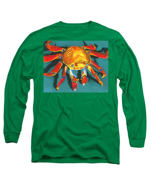 Colorful Crab II Long Sleeve T-Shirt by Stephen Anderson