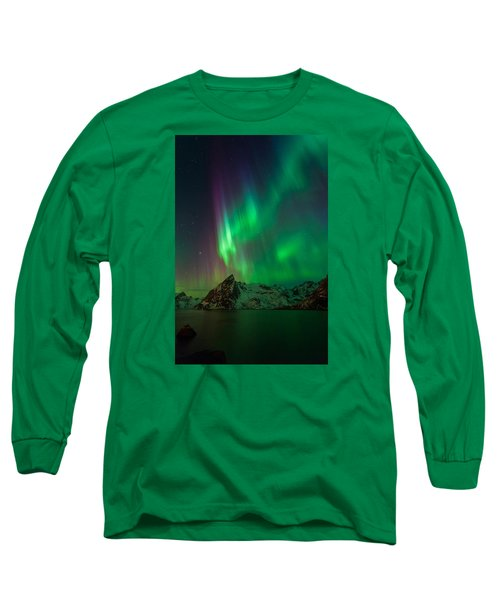 Curtains Of Light Long Sleeve T-Shirt by Alex Conu