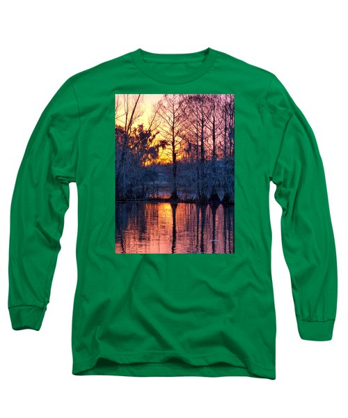 Cypress Sunrise Long Sleeve T-Shirt by Kimo Fernandez