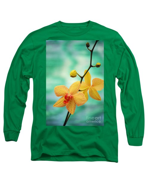 Dendrobium Long Sleeve T-Shirt by Allan Seiden - Printscapes