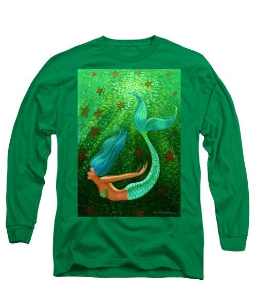 Diving Mermaid Fantasy Art Long Sleeve T-Shirt