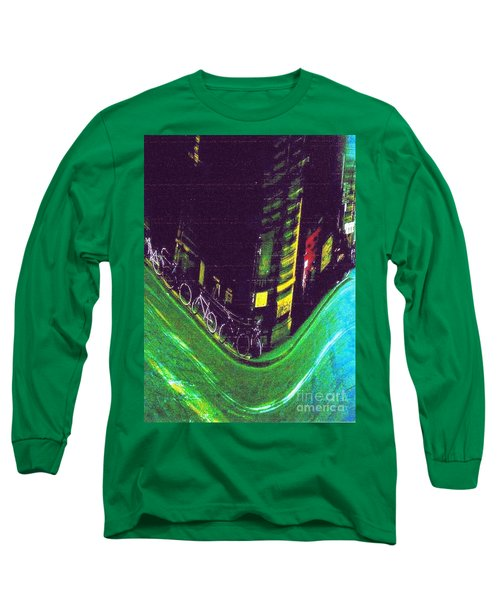 Driving By - Night Time In Bologna Long Sleeve T-Shirt